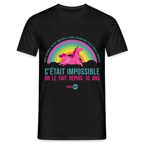 c'était impossible - T-shirt Homme