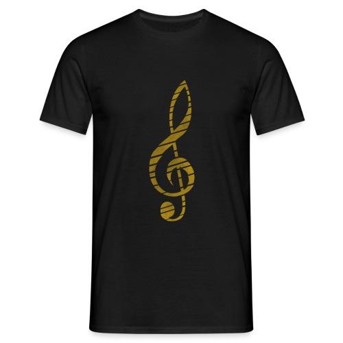Distressed Musik Schlüsse - Men's T-Shirt