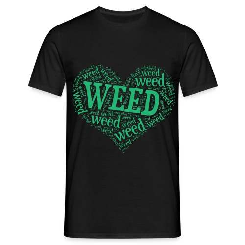 I Love Weed Heart - Men's T-Shirt