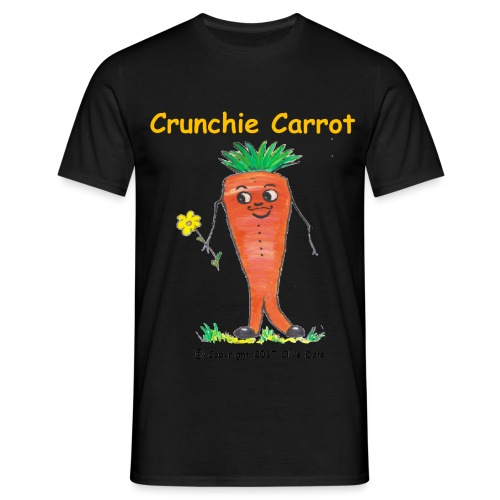 Crunchie carrot with name - Men's T-Shirt
