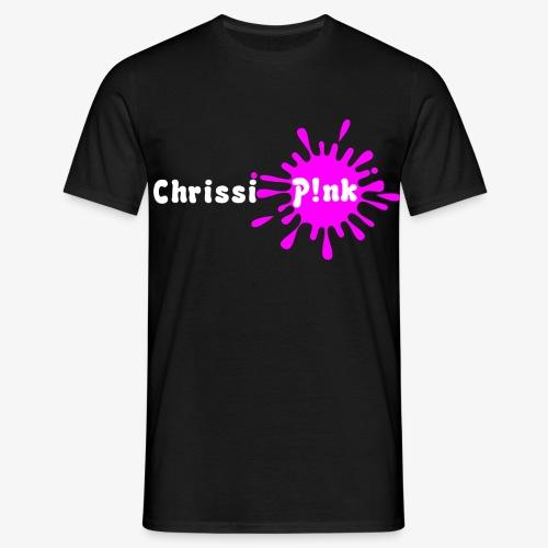 Chrissi Pink Schwarzes Shirt png - Männer T-Shirt