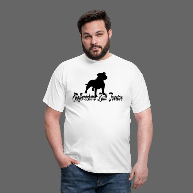 Hvid kant Staffordshire Bull Terrier logo png