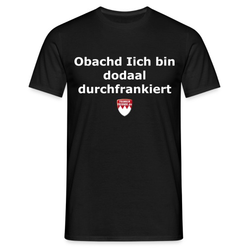 tshirt fragisch frankiert - Männer T-Shirt
