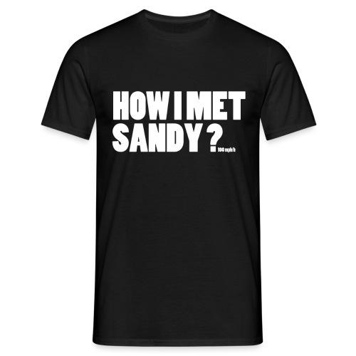 Sandy / white - T-shirt Homme