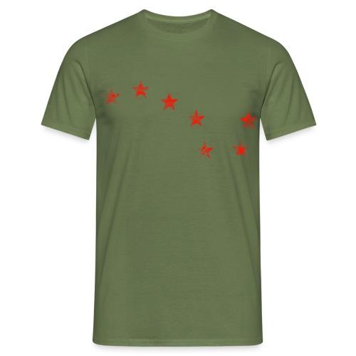starry plough red grunge - Men's T-Shirt