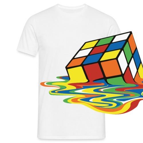 Rubik's Cube Melting Cube - Men's T-Shirt