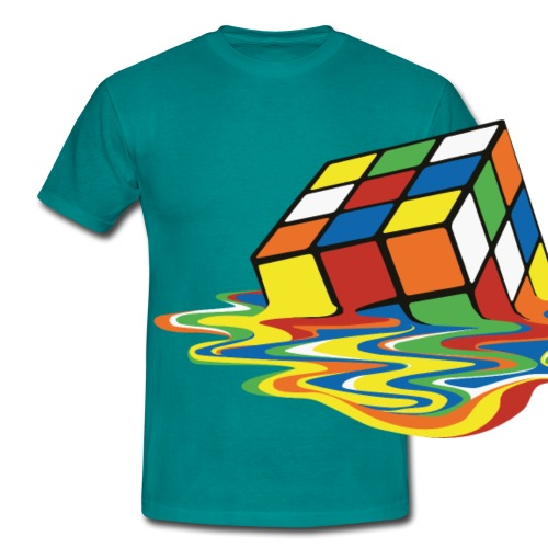 Rubik's Cube Melting Cube - Men's T-Shirt