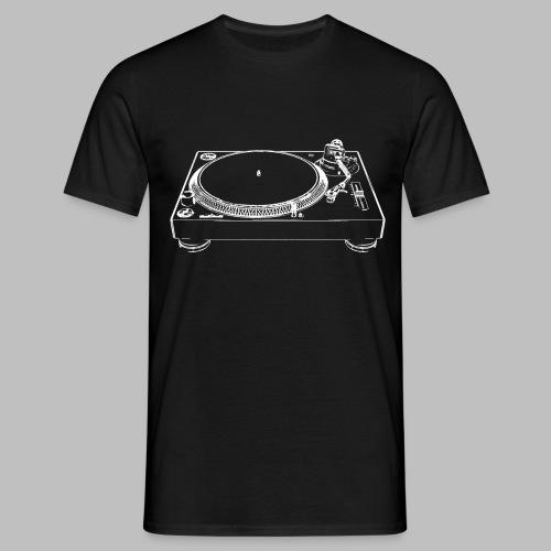 Plattenspieler Turntable skizziert DJ Equipment - Männer T-Shirt