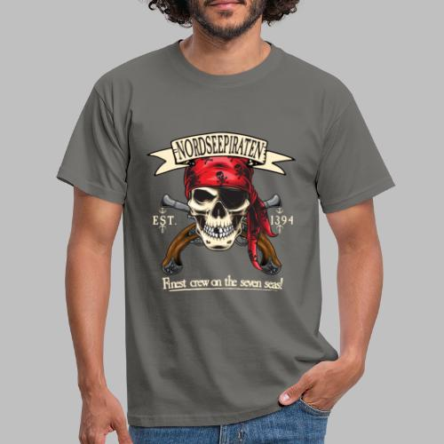 Nordseepiraten Piratenschädel Totenkopf Geschenke - Männer T-Shirt