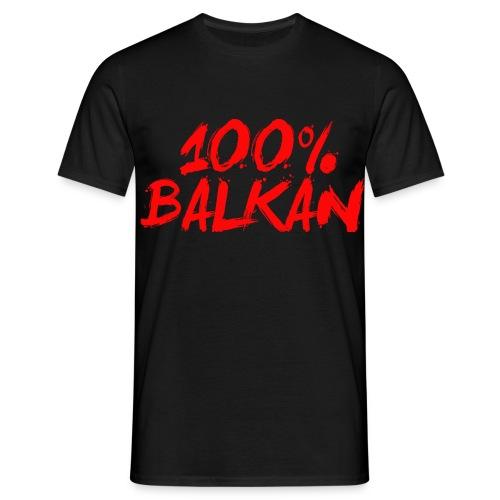 100% Balkan - Männer T-Shirt