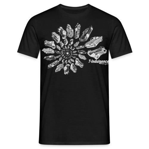 Black and White Swirl (Dark fabric) - Men's T-Shirt