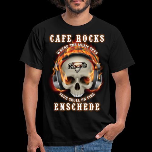 Skull On Fire - Mannen T-shirt