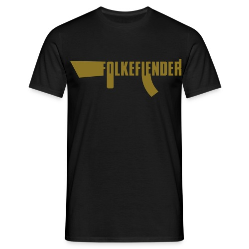 folkefiender spreadshirt 03 - T-skjorte for menn