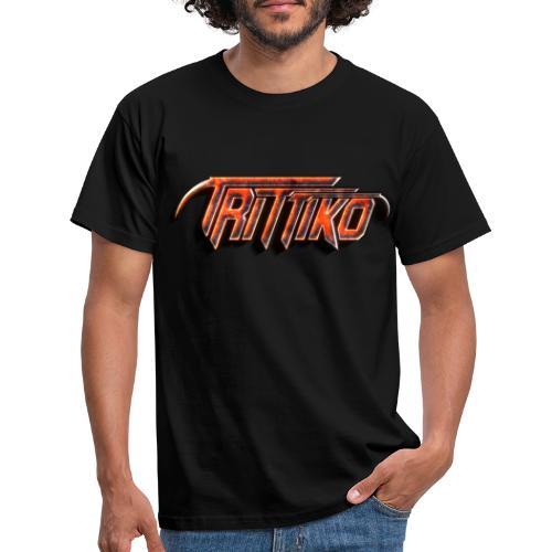 Trittiko Logo Rot 3D - Männer T-Shirt