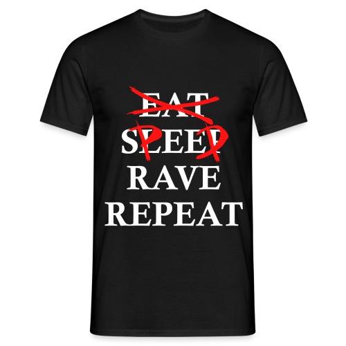 eat sleep repeat weiß - Männer T-Shirt