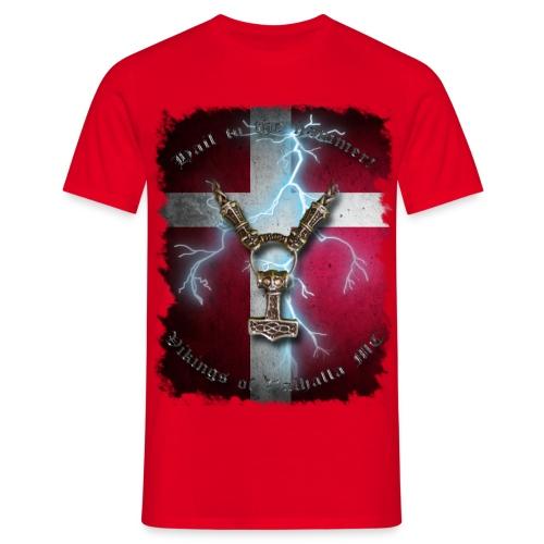Hail to the hammer Dannebrog png - Herre-T-shirt