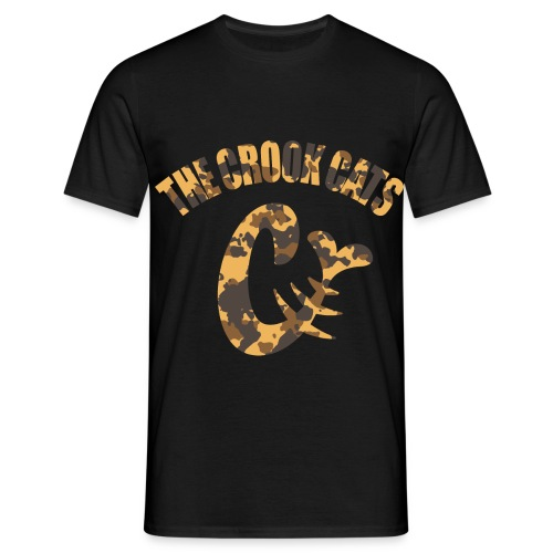 thecrookcats_logo_camo1 - T-shirt Homme
