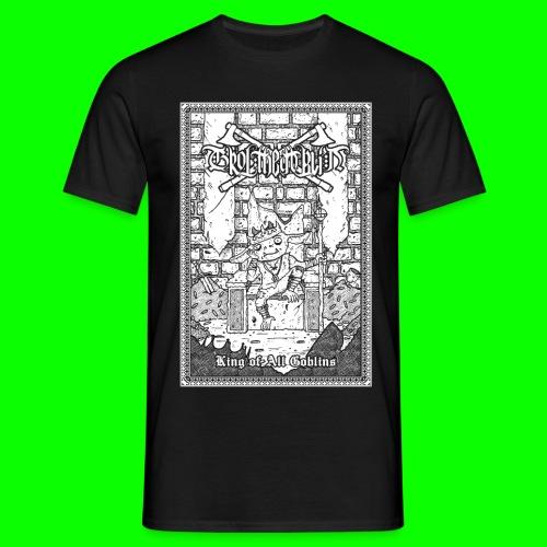 king of all goblins white on black - Men's T-Shirt