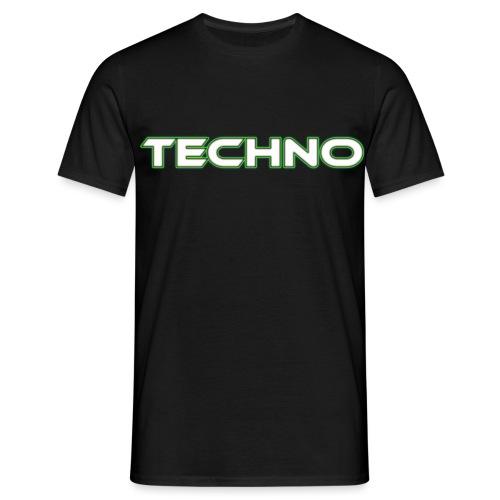 techno white png - Men's T-Shirt