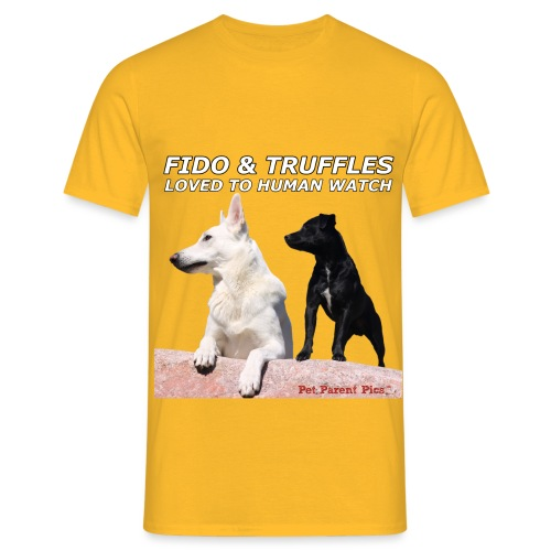 Fido and Truffles - Men's T-Shirt