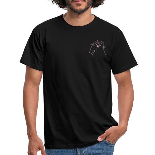 Shocked Cat rosa - Männer T-Shirt