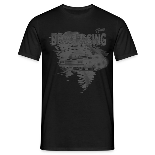 Drag Racing T shirt in black white - Männer T-Shirt
