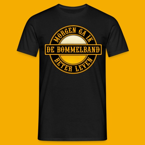 Logo Zwart Geel 2 - Mannen T-shirt