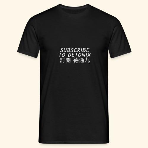 DETONIX WHITE CHINA THEMED - Men's T-Shirt