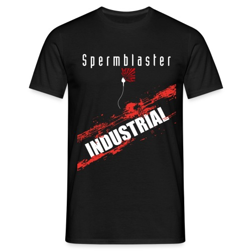 spermblaster industrial 2 png - Men's T-Shirt