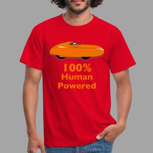 100% human powered - Miesten t-paita