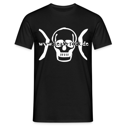 death-rock.de Logo - Männer T-Shirt