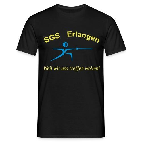tshirt schriftzug trebuchet 3col - Männer T-Shirt