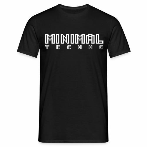 Minimal Techno Pixel Text MNML Art Schriftzug - Männer T-Shirt