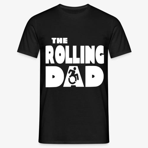 > De rollende papa in een rolstoel - Mannen T-shirt