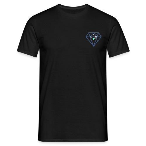 LLK Logo mit FarbDiamant Weiss - Männer T-Shirt