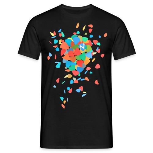 Guitar Pick Explosion - Men's T-Shirt