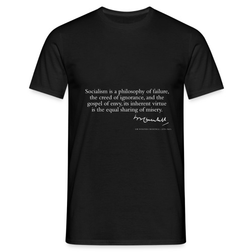 Sir Winston Churchill Quote only - T-shirt herr