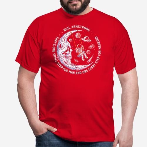 moon astronaut stars space - Männer T-Shirt