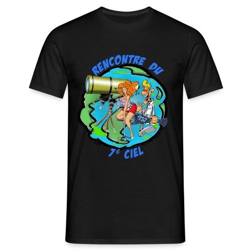 7ciel texte bleu - T-shirt Homme
