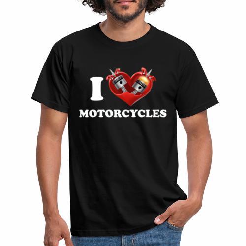 i love motorcycles - Men's T-Shirt