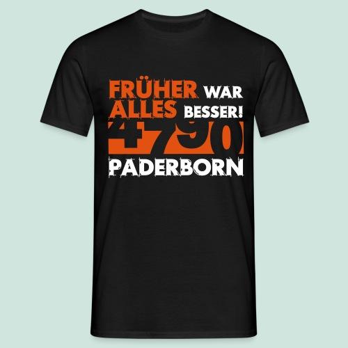 4790 Paderborn Früher war alles besser - Männer T-Shirt