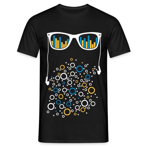 Brille mit Equalizer - Männer T-Shirt
