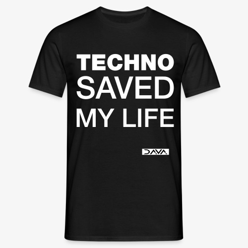 Techno Saves lives - white - Men's T-Shirt