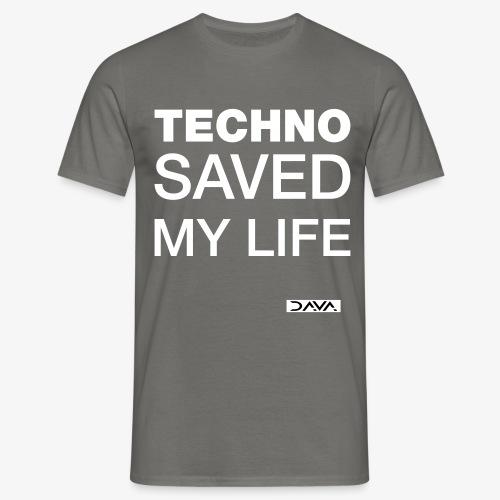 Techno Saves lives - white - Men's T-Shirt