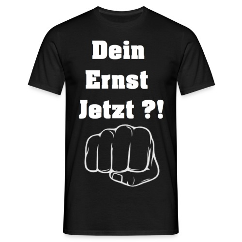 Faust mit Spruch 2 schwarzes TShirt gif - Männer T-Shirt