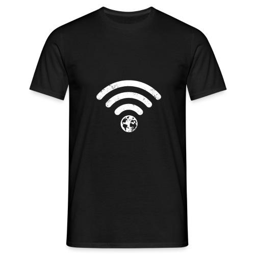Planet Earth Calling Internet Wi-Fi - Men's T-Shirt