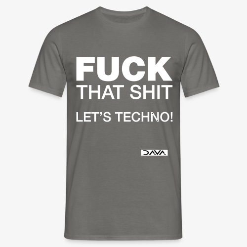 Let's techno - white - Men's T-Shirt