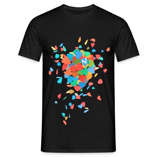 Guitar Pick Explosion - Men's T-Shirt
