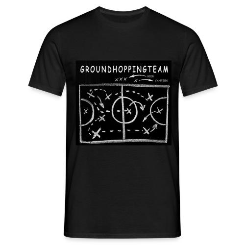 groundhopping canteen beer schwarz weiss - Männer T-Shirt