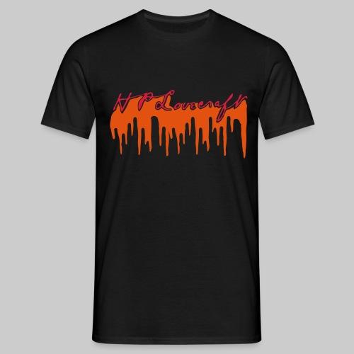Lovecraft Unterschrift mit Blut groß - Männer T-Shirt